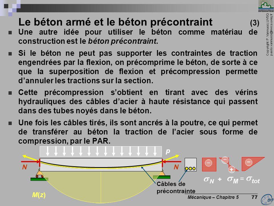 Le béton armé et le béton précontraint (3)