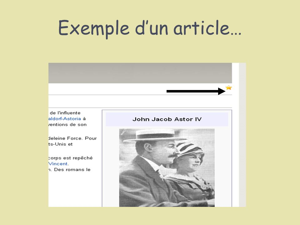 Exemple d'un article…