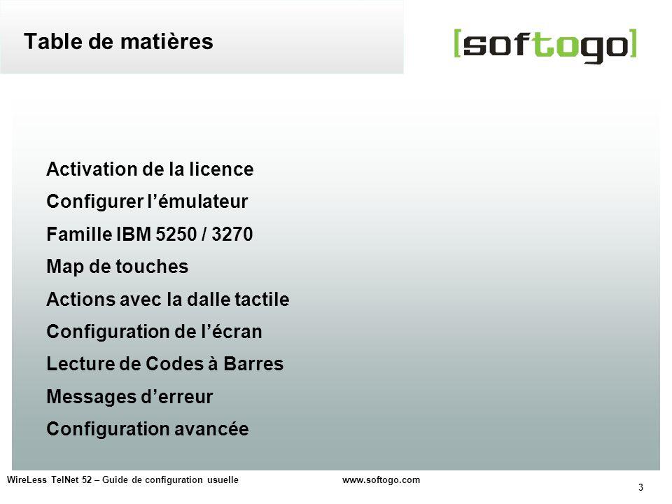 Table de matières Activation de la licence Configurer l'émulateur