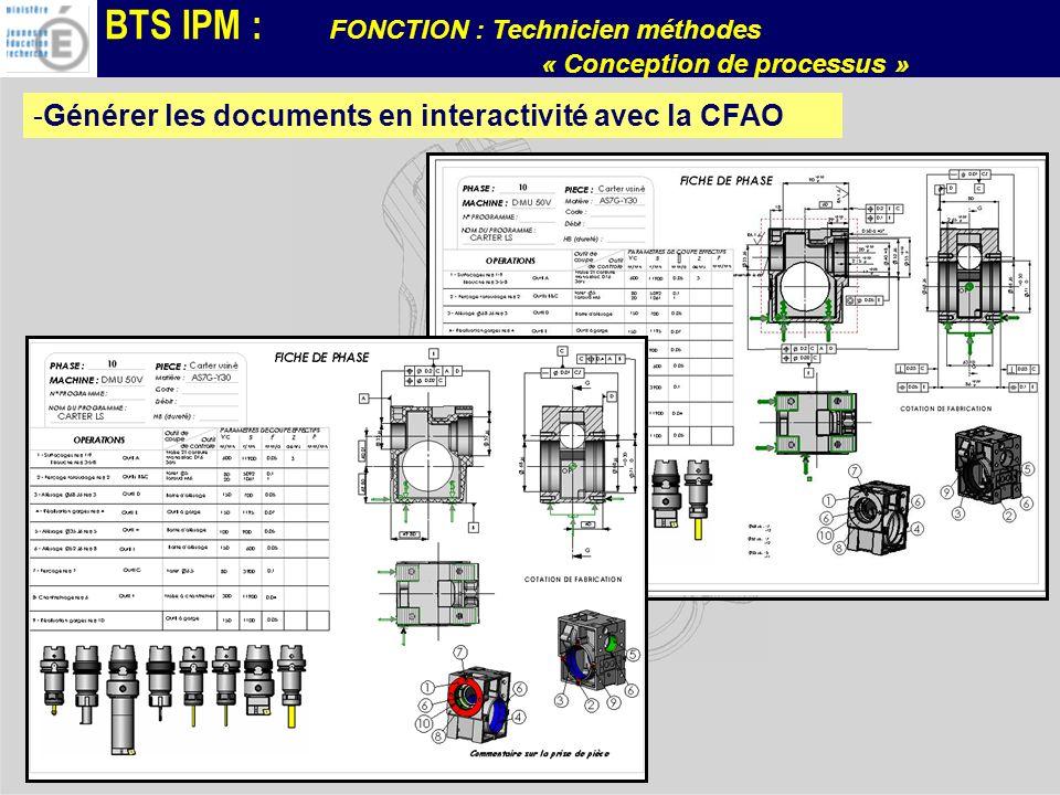 Générer les documents en interactivité avec la CFAO