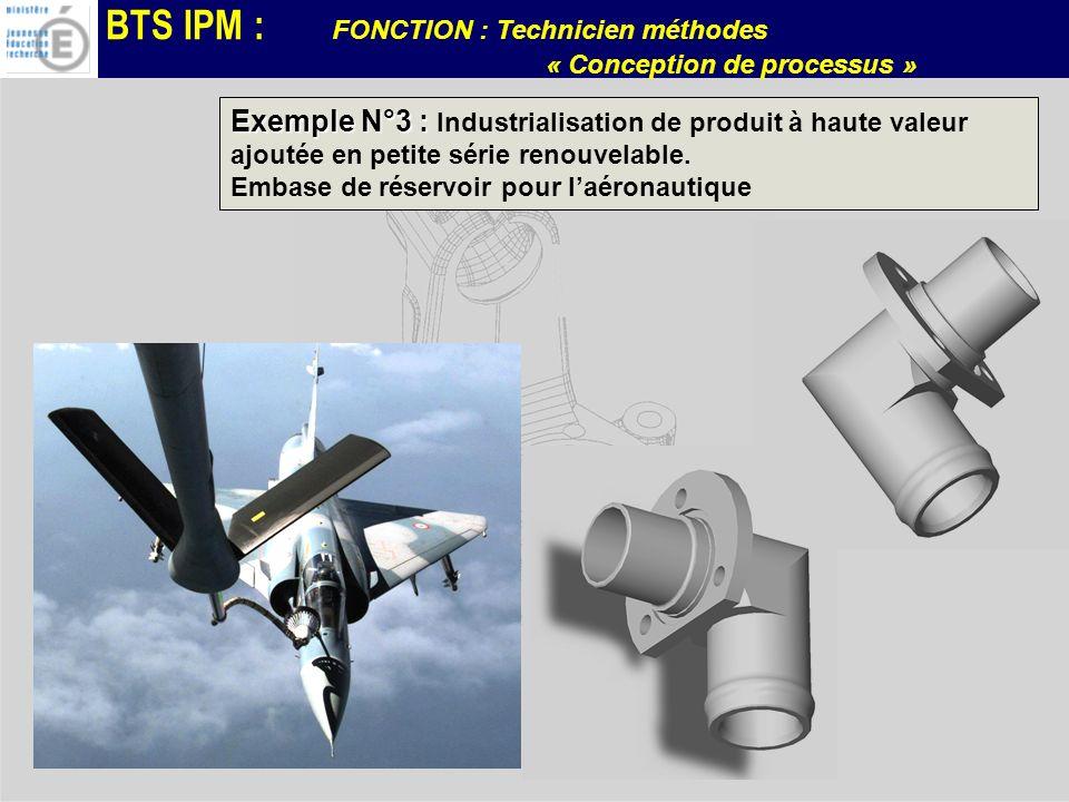 Exemple N°3 : Industrialisation de produit à haute valeur ajoutée en petite série renouvelable.