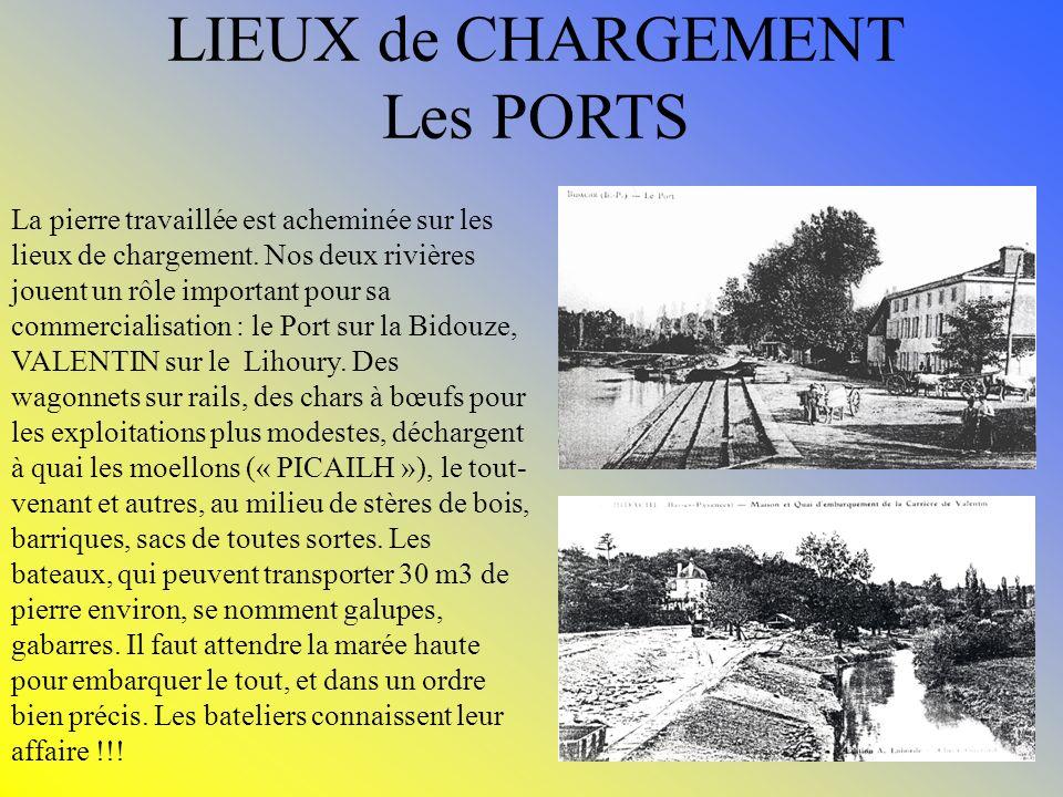 LIEUX de CHARGEMENT Les PORTS