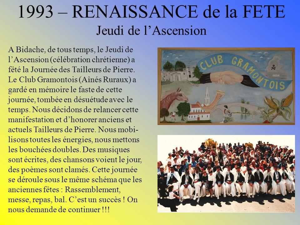 1993 – RENAISSANCE de la FETE Jeudi de l'Ascension