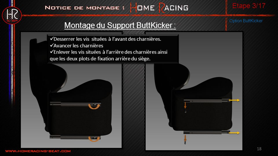 Montage du Support ButtKicker :