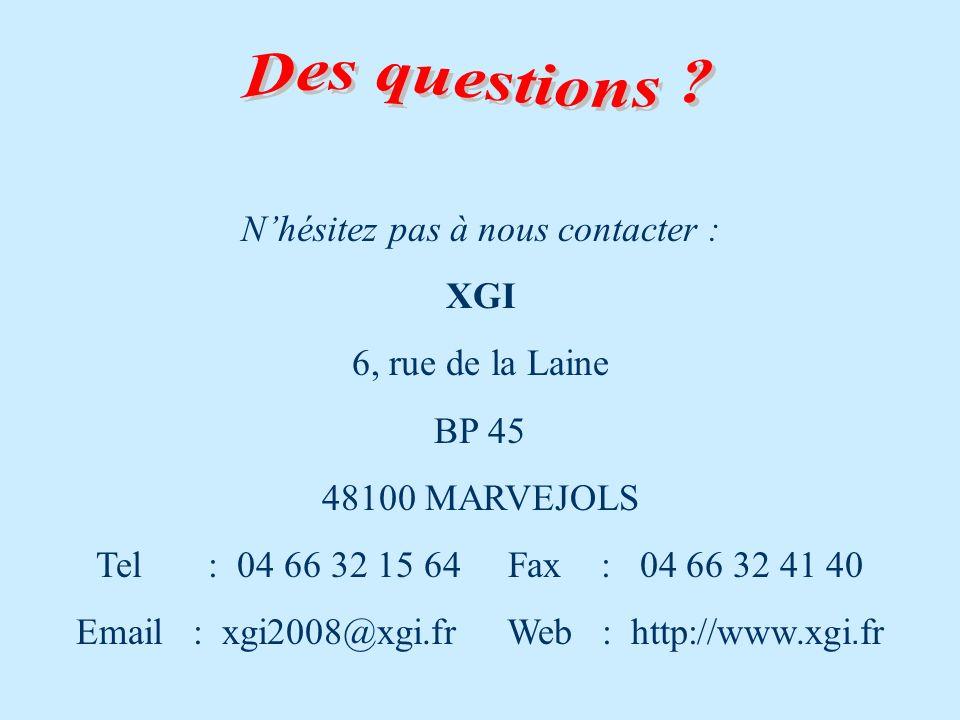 N'hésitez pas à nous contacter :