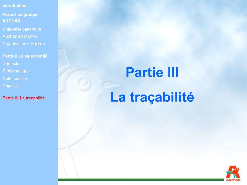 Partie III La traçabilité