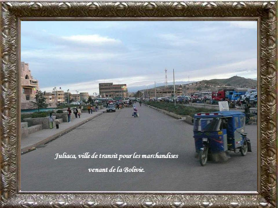 Juliaca, ville de transit pour les marchandises