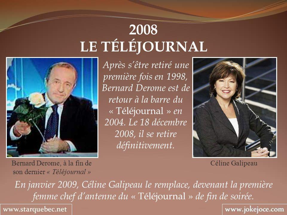 Bernard Derome, à la fin de son dernier « Téléjournal »