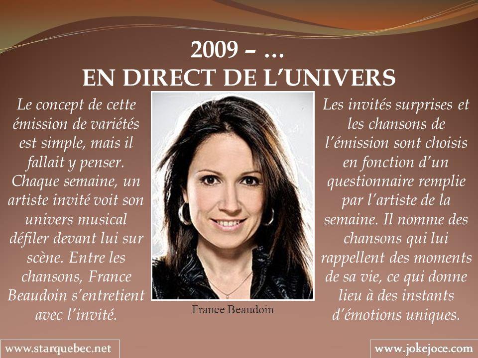 2009 – … EN DIRECT DE L'UNIVERS