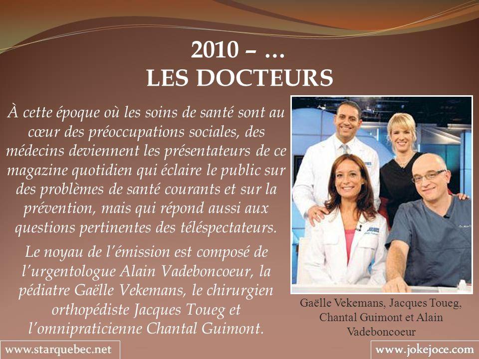 Gaëlle Vekemans, Jacques Toueg, Chantal Guimont et Alain Vadeboncoeur