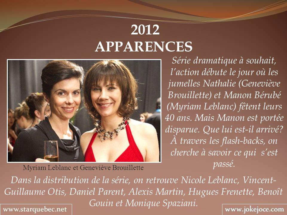 Myriam Leblanc et Geneviève Brouillette