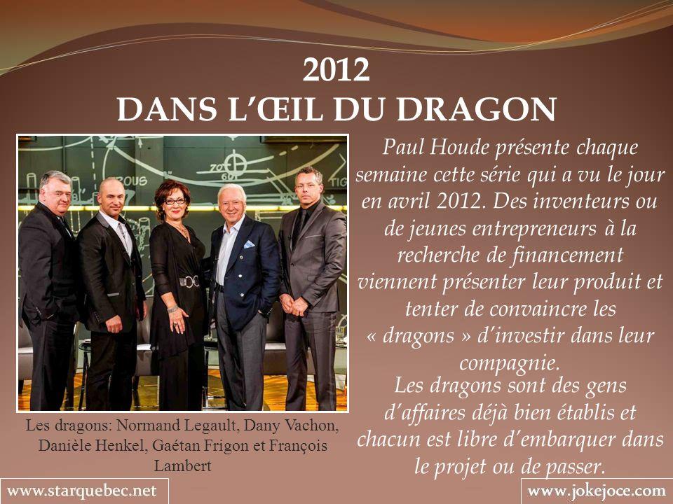 2012 DANS L'ŒIL DU DRAGON.