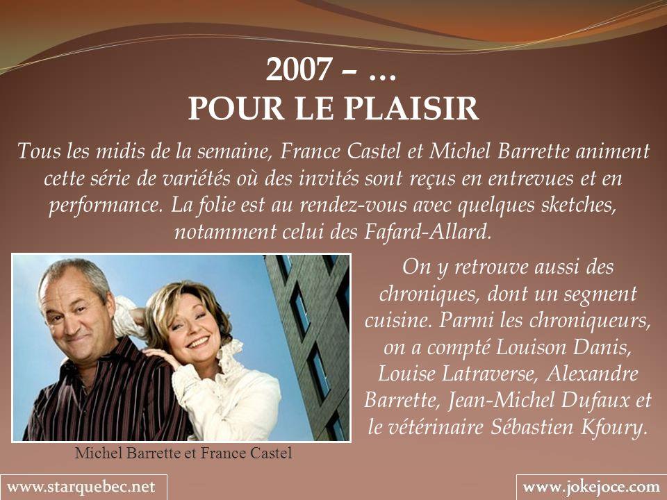 Michel Barrette et France Castel