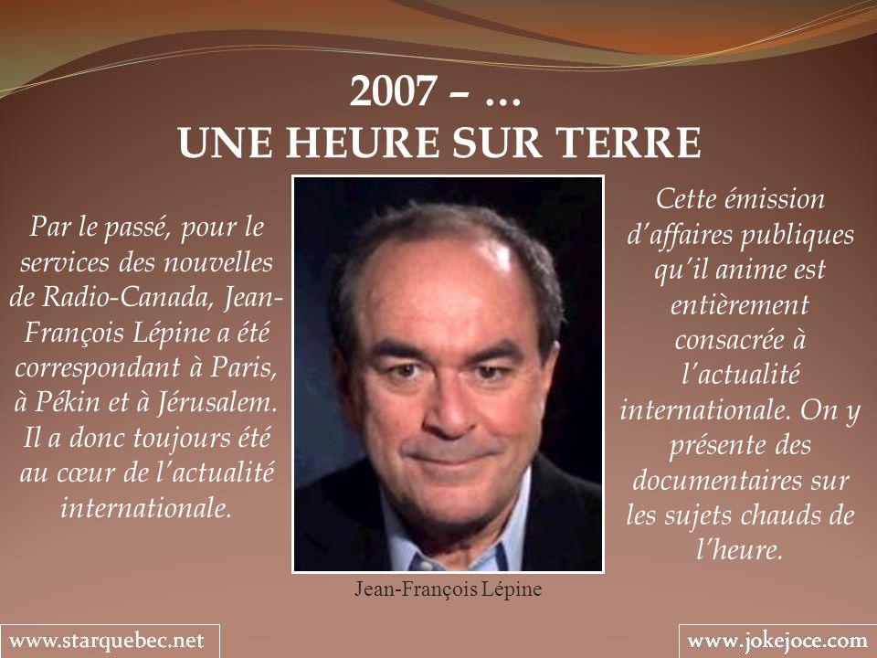 2007 – … UNE HEURE SUR TERRE.