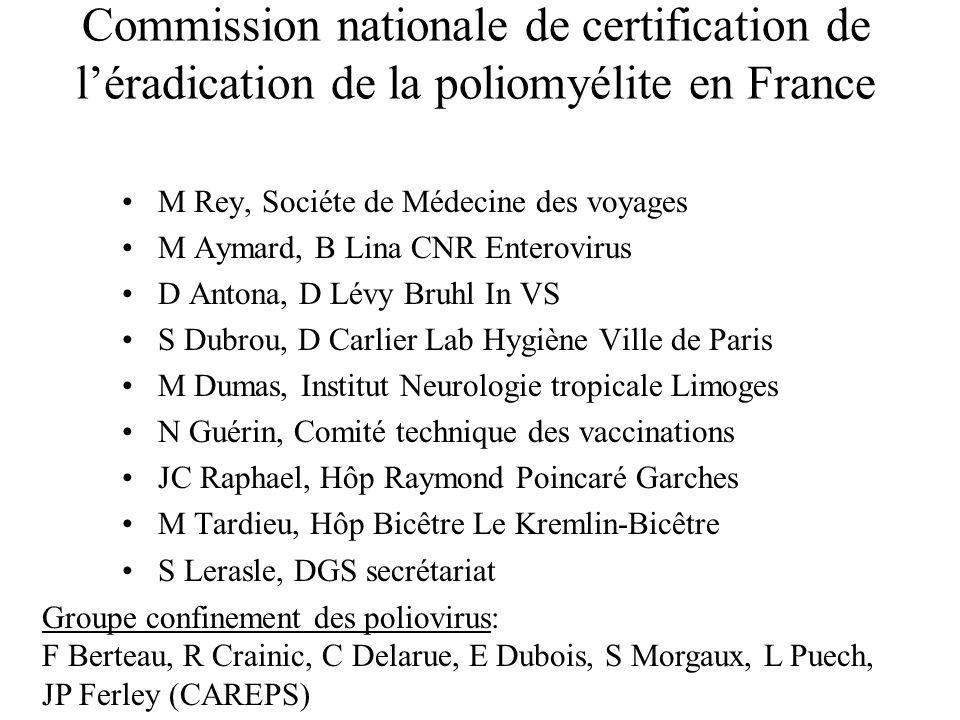 Commission nationale de certification de l'éradication de la poliomyélite en France