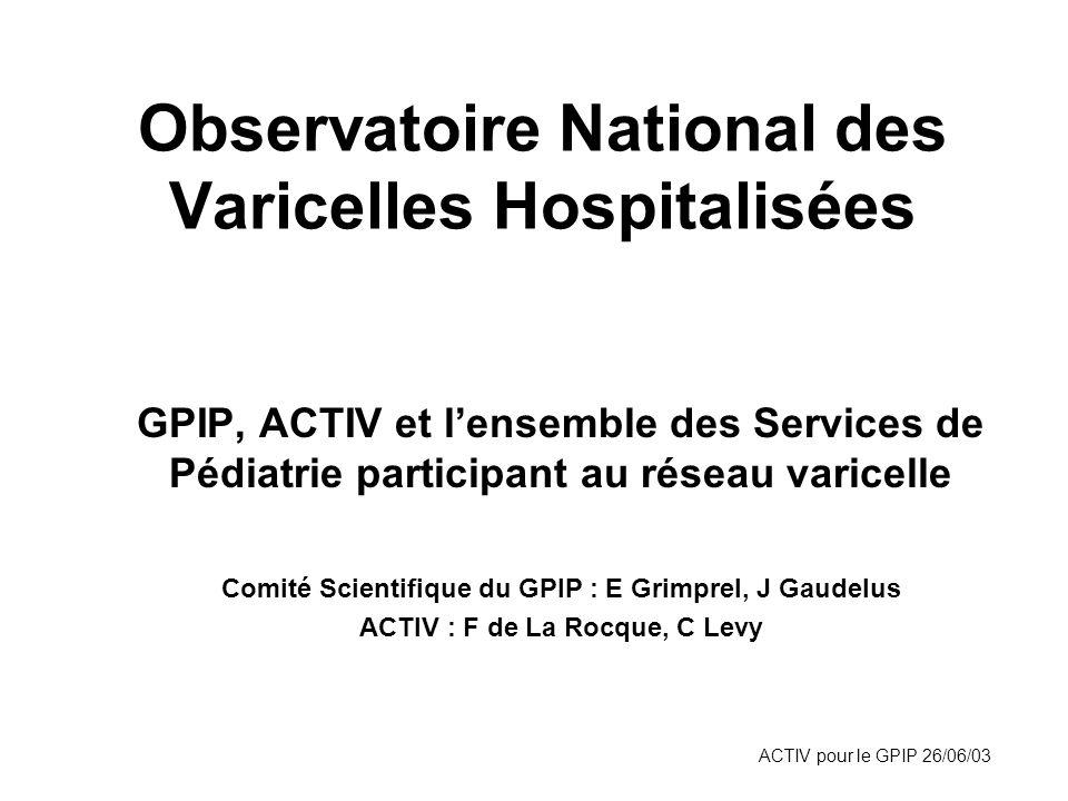 Observatoire National des Varicelles Hospitalisées