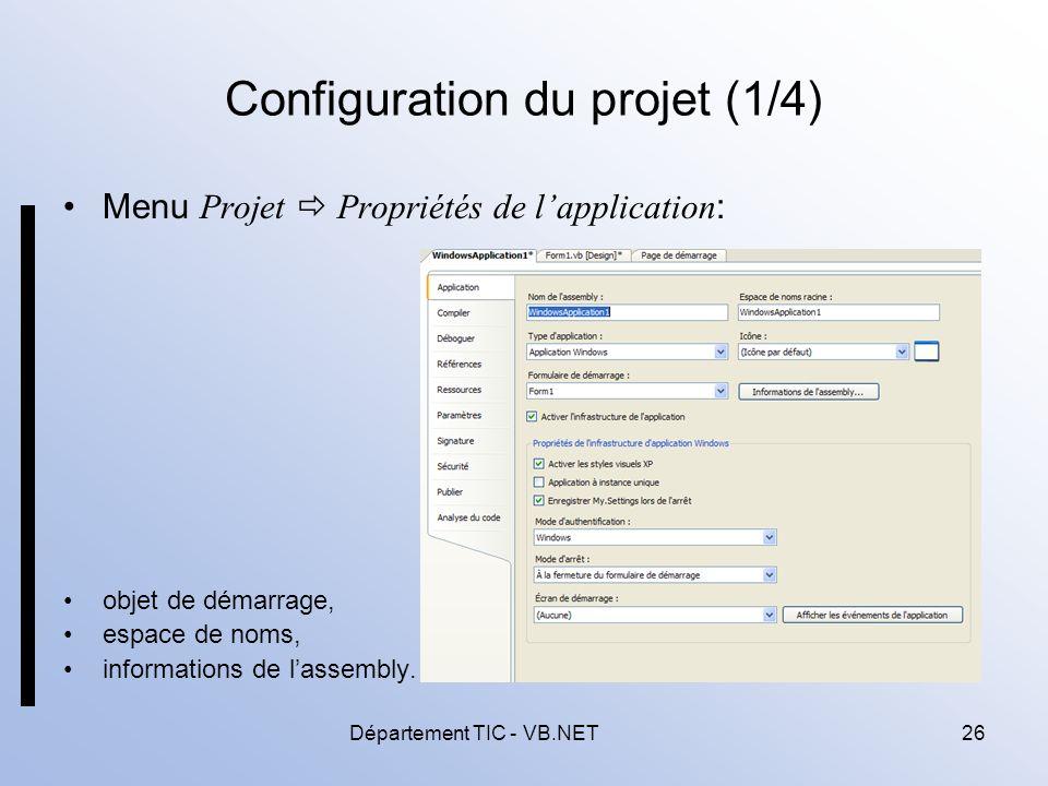 Configuration du projet (1/4)