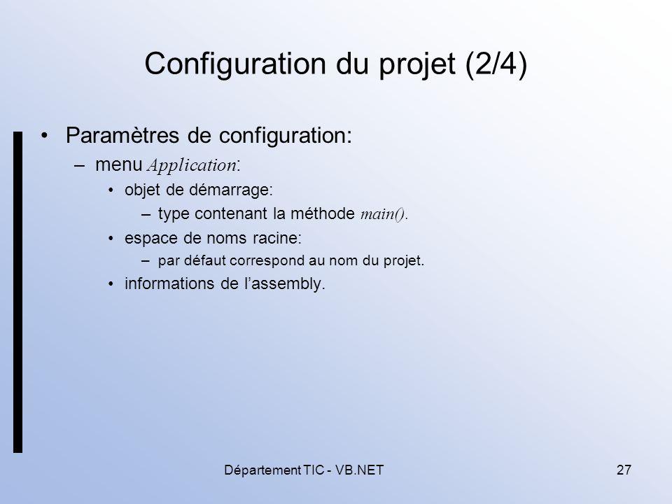 Configuration du projet (2/4)