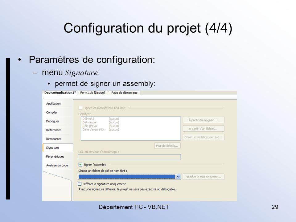 Configuration du projet (4/4)