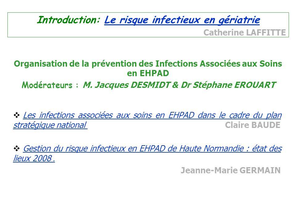 Modérateurs : M. Jacques DESMIDT & Dr Stéphane EROUART