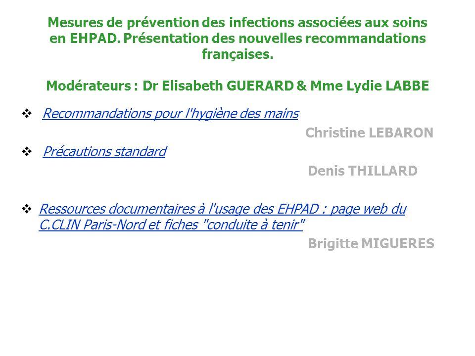 Mesures de prévention des infections associées aux soins en EHPAD