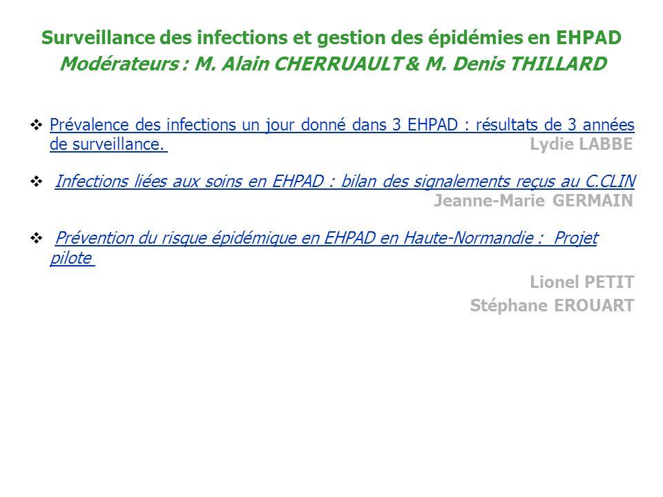 Surveillance des infections et gestion des épidémies en EHPAD