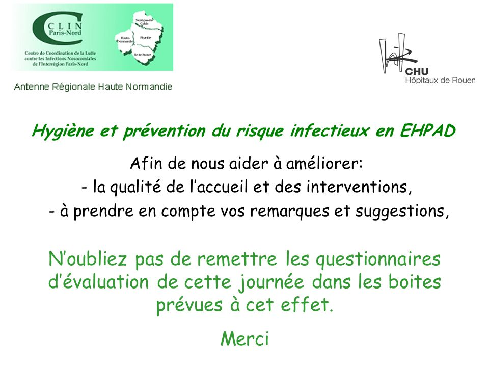 Hygiène et prévention du risque infectieux en EHPAD