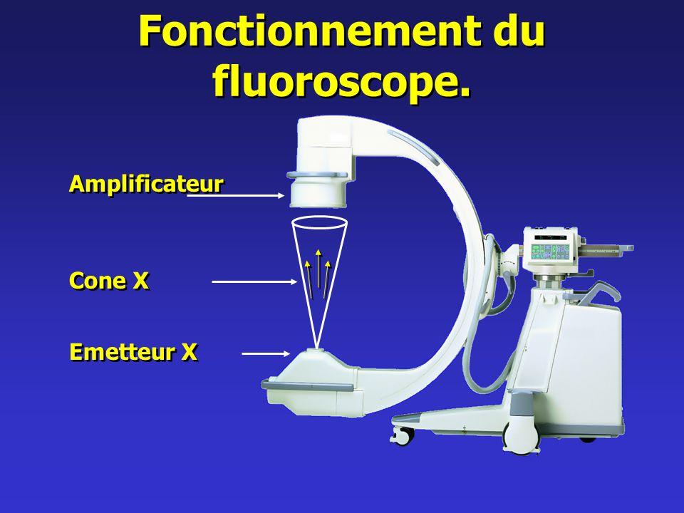 Fonctionnement du fluoroscope.