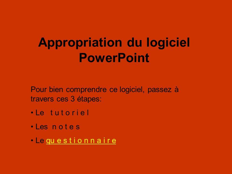Appropriation du logiciel PowerPoint