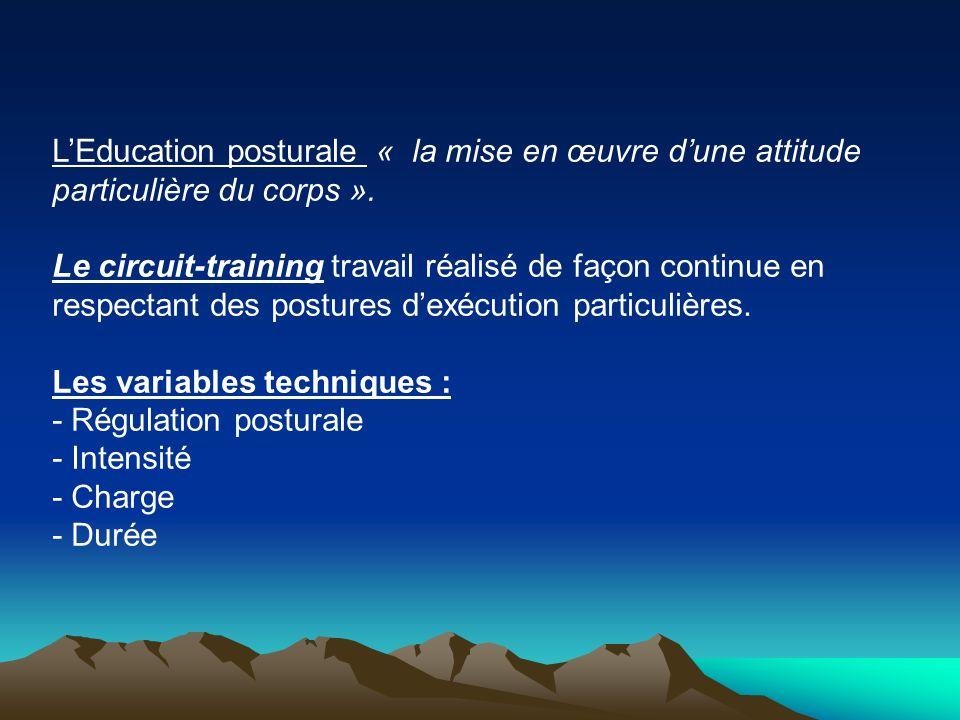 L'Education posturale « la mise en œuvre d'une attitude