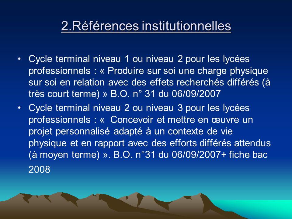 2.Références institutionnelles