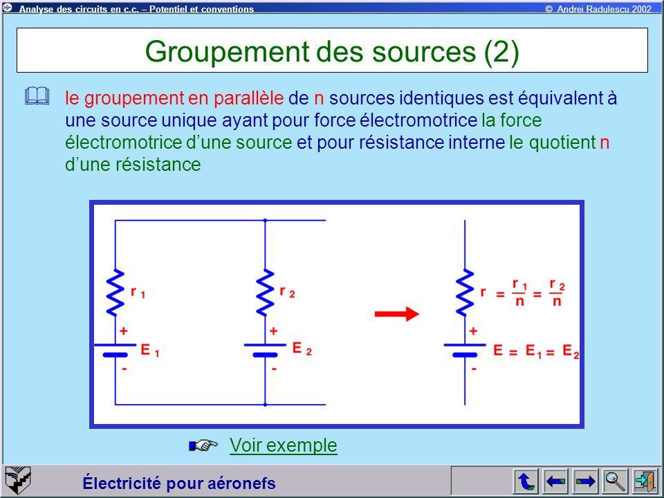 Groupement des sources (2)