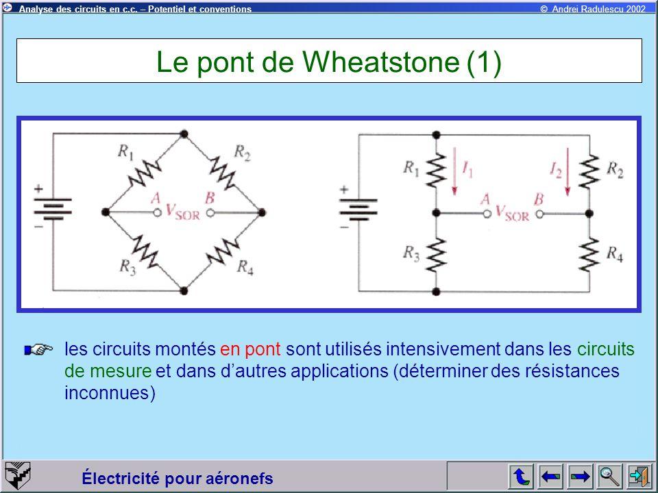 Le pont de Wheatstone (1)