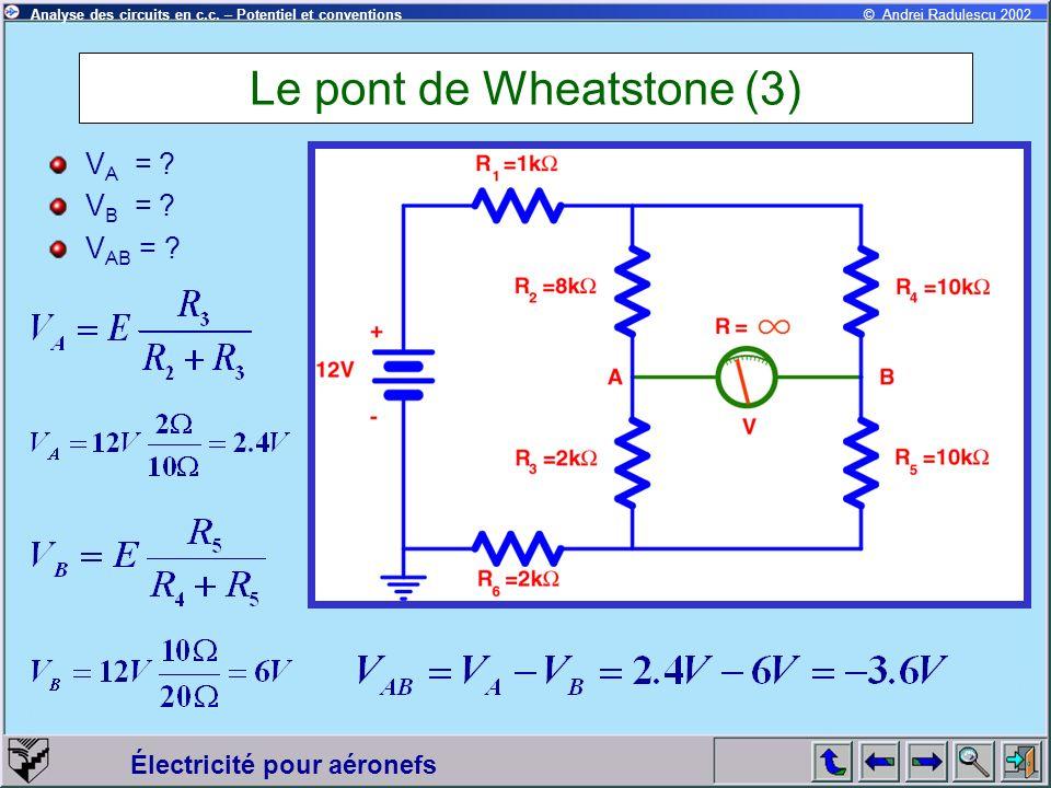 Le pont de Wheatstone (3)