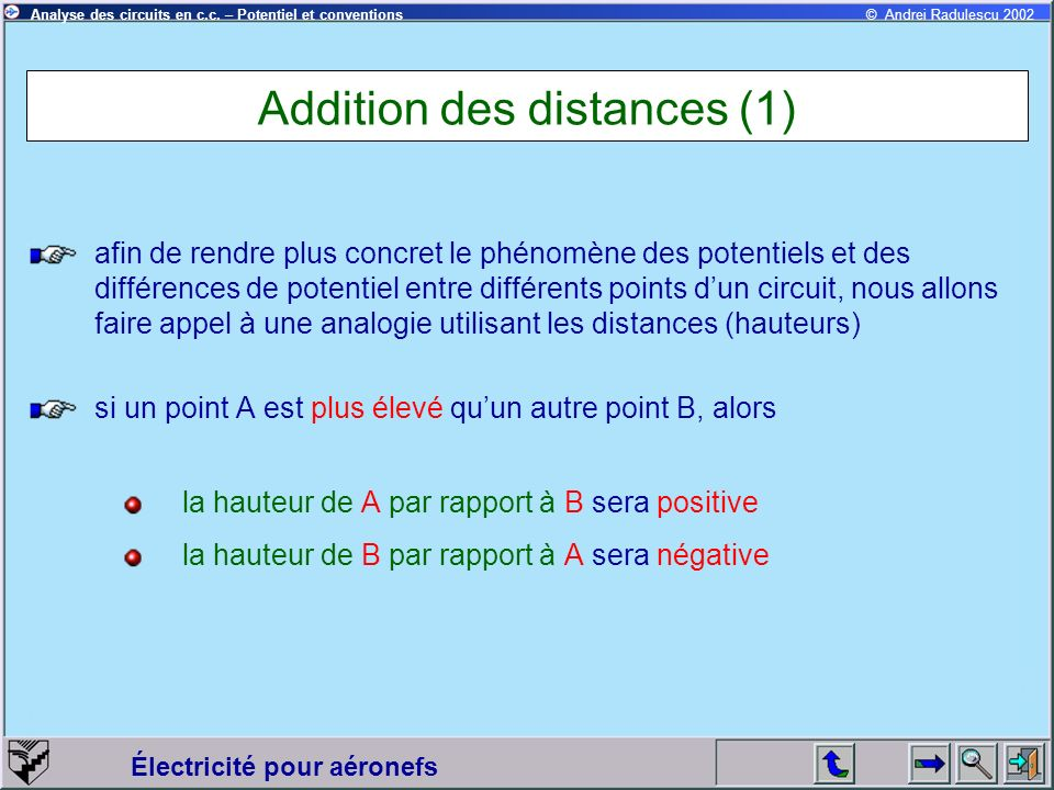 Addition des distances (1)