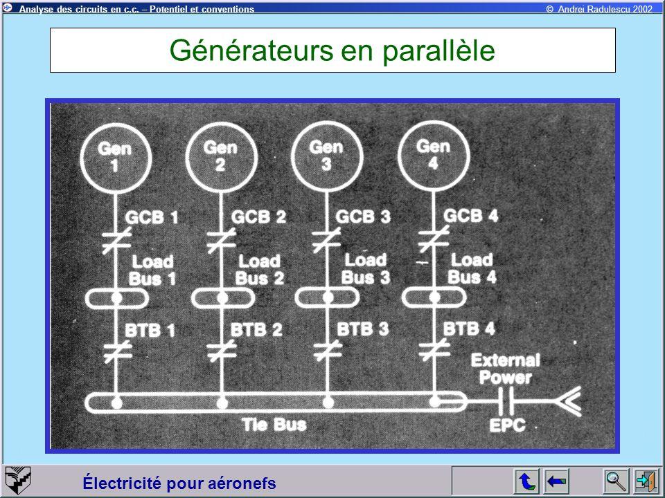 Générateurs en parallèle