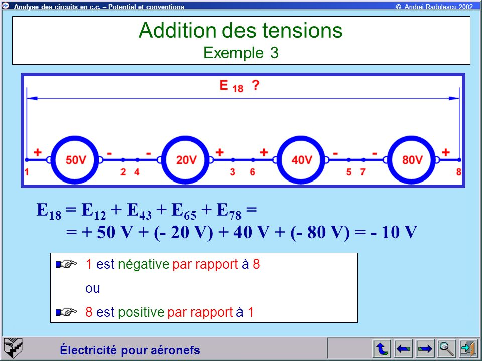 Addition des tensions Exemple 3