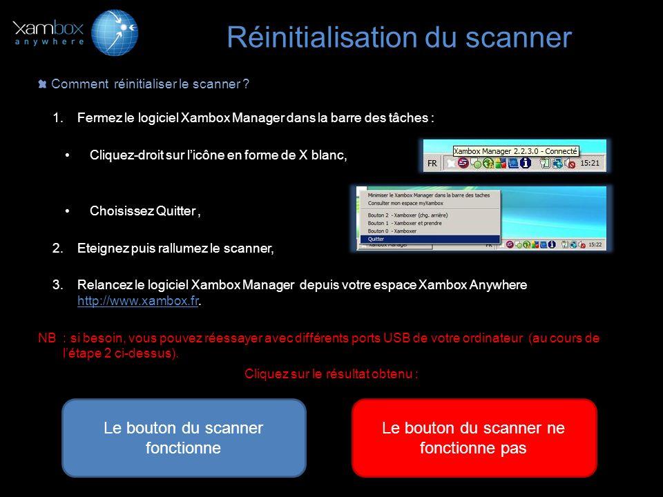 Réinitialisation du scanner