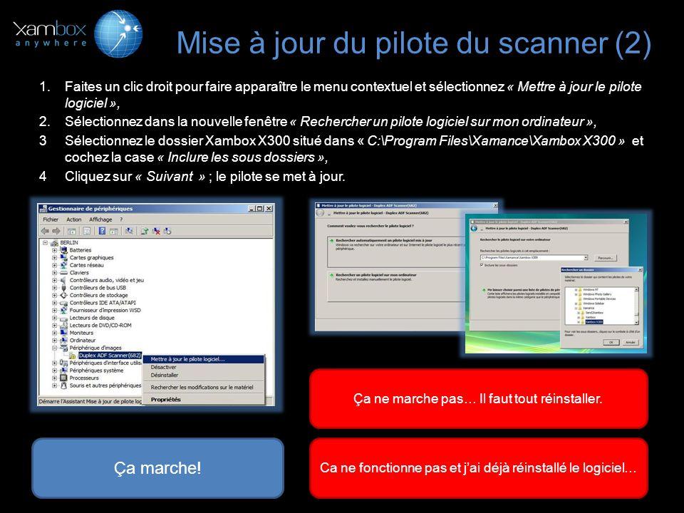 Mise à jour du pilote du scanner (2)