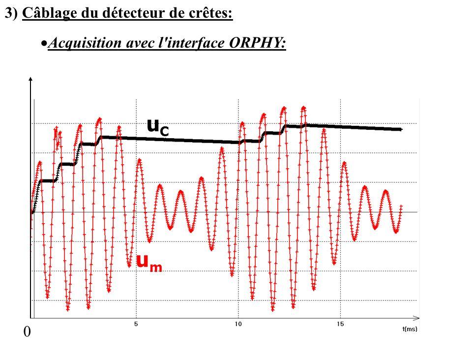uC um 3) Câblage du détecteur de crêtes: