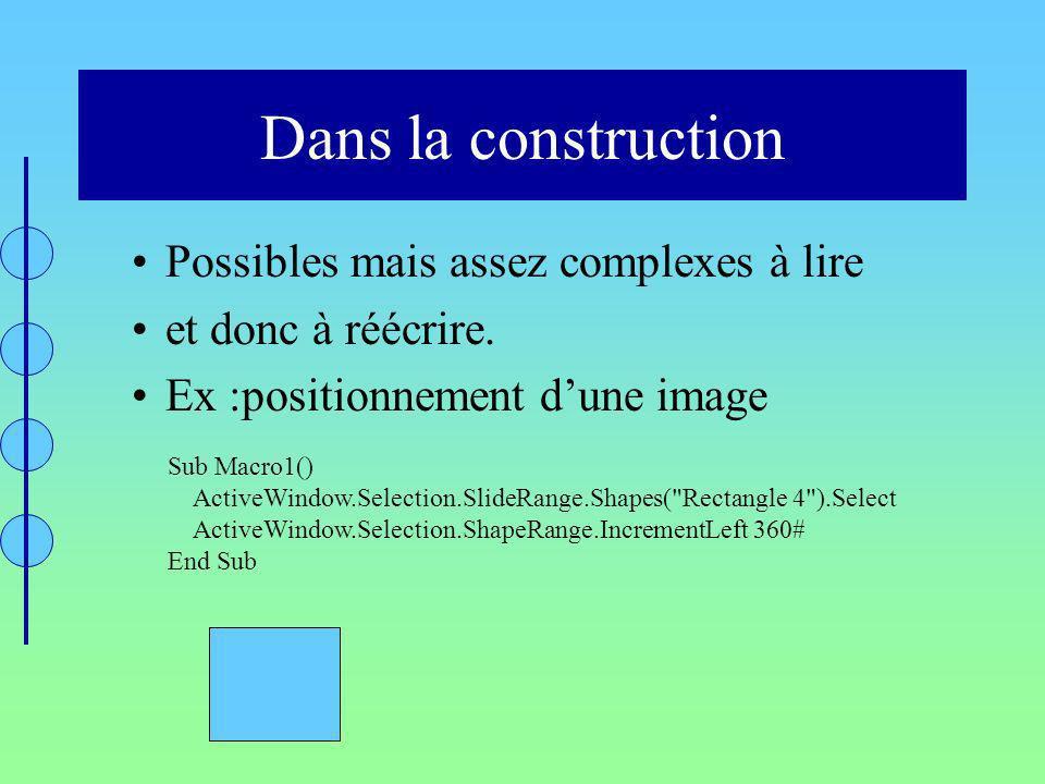Dans la construction Possibles mais assez complexes à lire