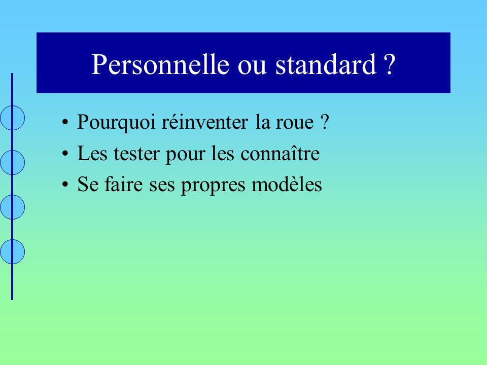 Personnelle ou standard