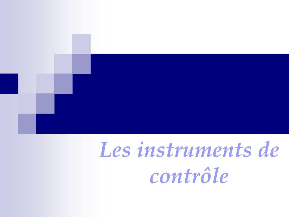 Les instruments de contrôle