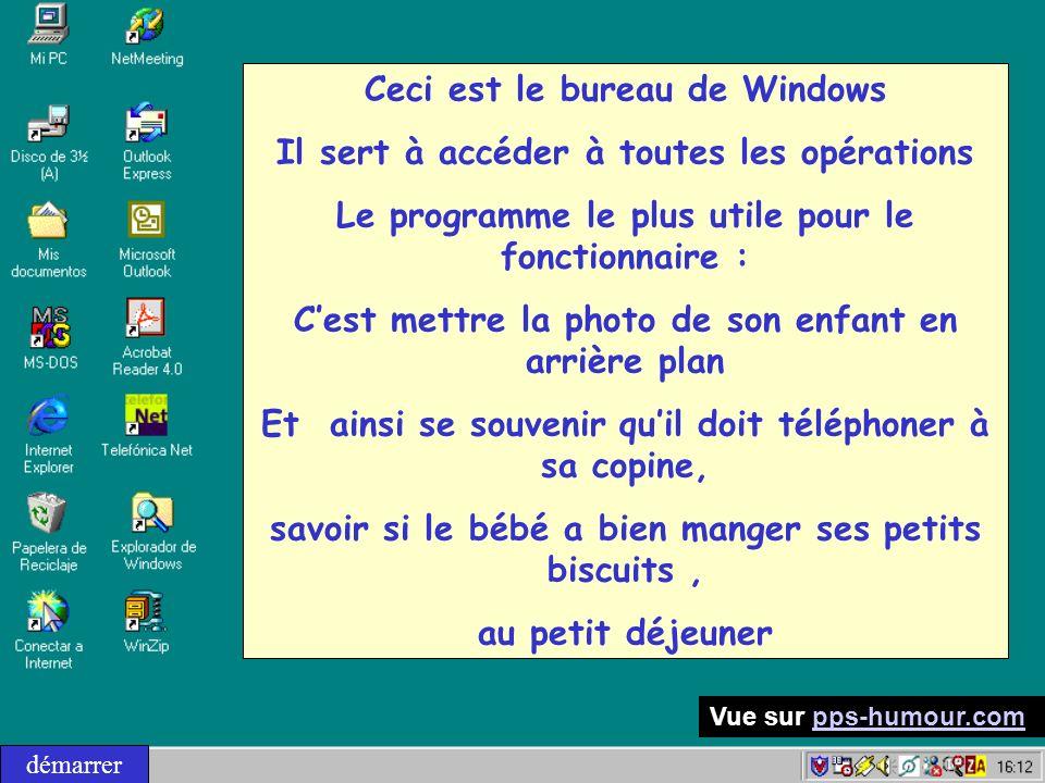 Ceci est le bureau de Windows