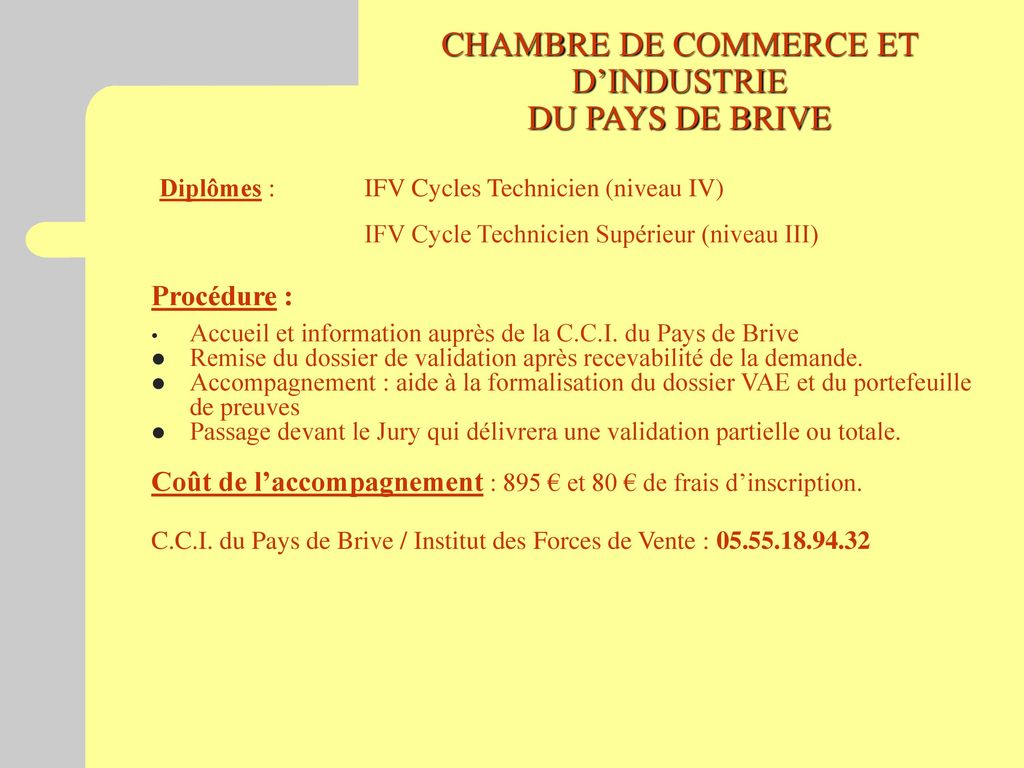 Information collective vae ppt t l charger for Chambre de commerce et d industrie du togo