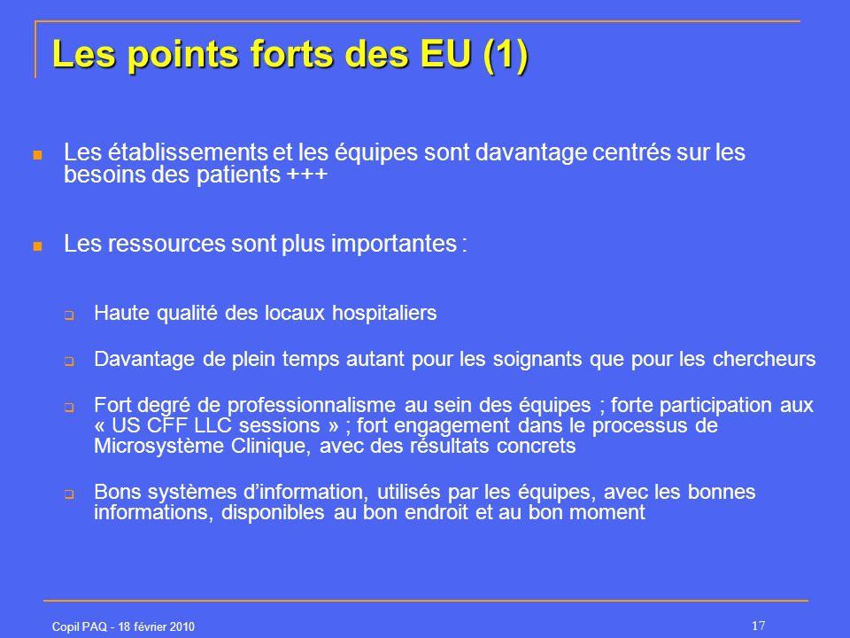 Les points forts des EU (1)