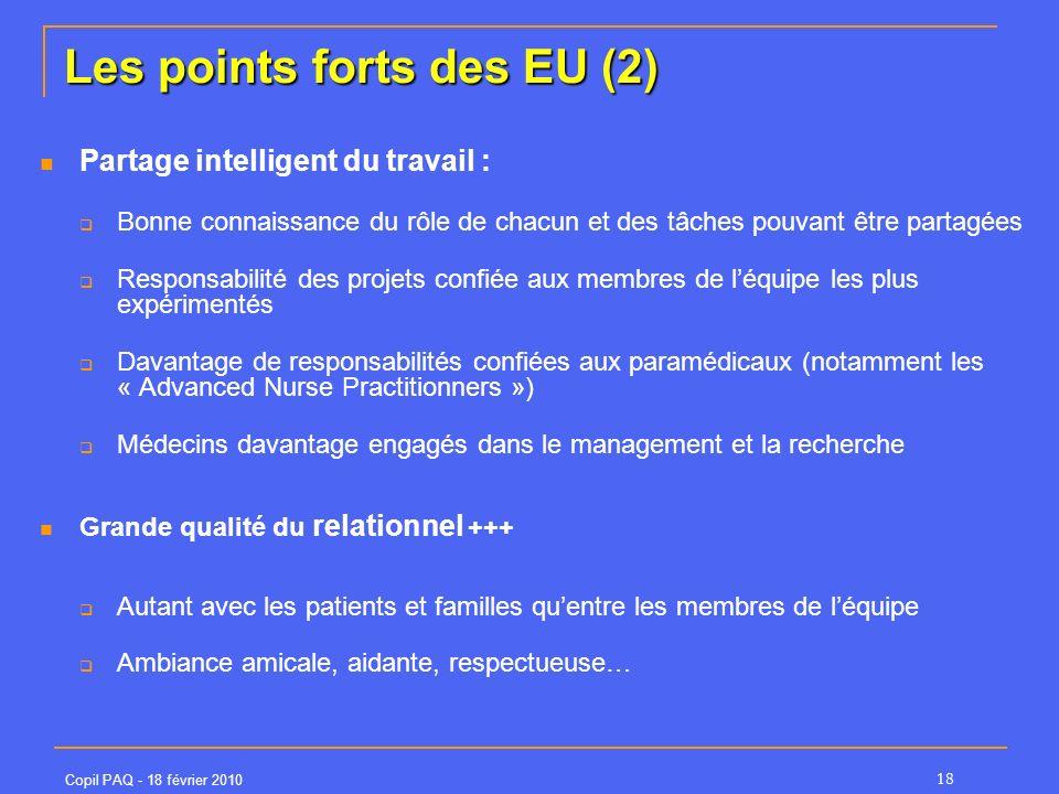 Les points forts des EU (2)