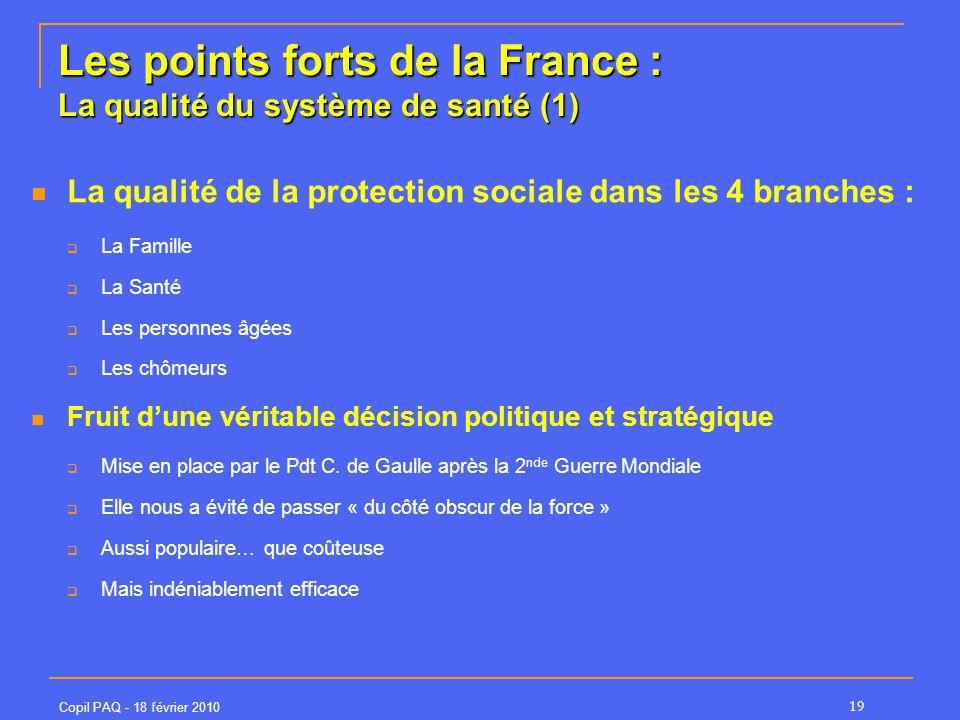 Les points forts de la France : La qualité du système de santé (1)