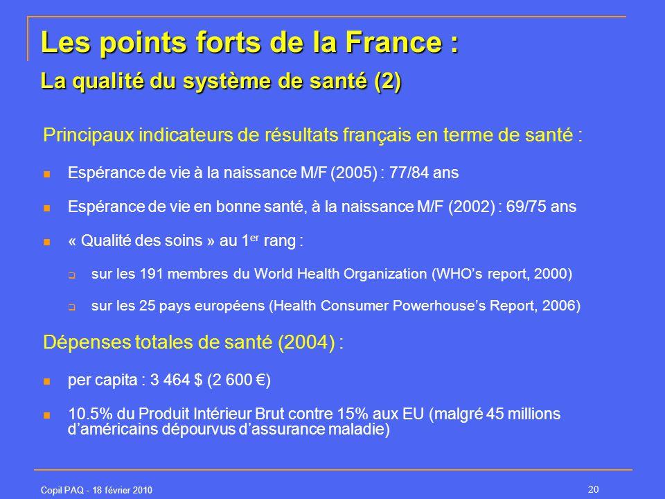 Les points forts de la France : La qualité du système de santé (2)