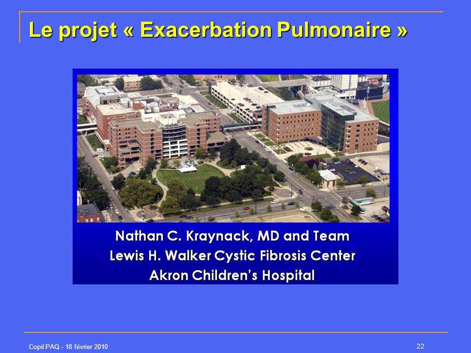 Le projet « Exacerbation Pulmonaire »